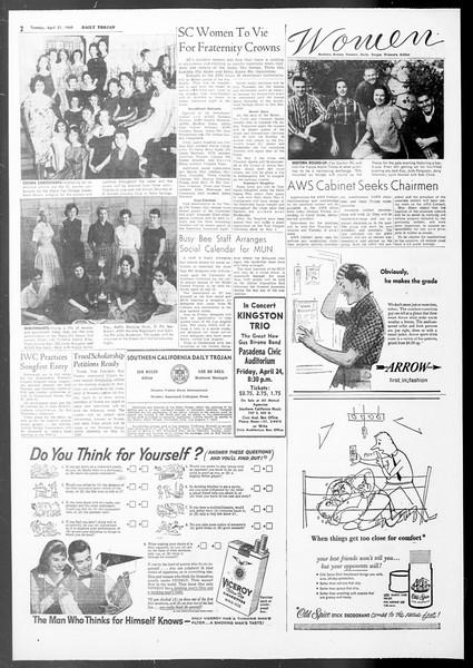 Daily Trojan, Vol. 50, No. 110, April 21, 1959