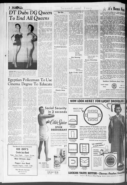 Daily Trojan, Vol. 47, No. 138, May 21, 1956