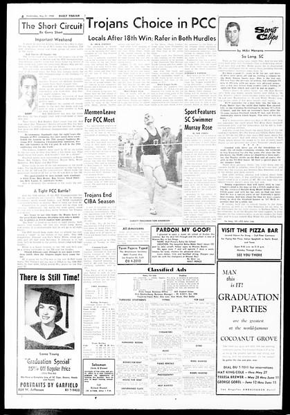 Daily Trojan, Vol. 49, No. 122, May 21, 1958