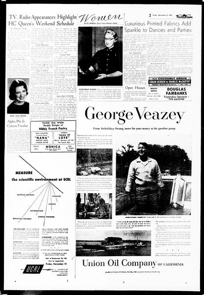 Daily Trojan, Vol. 49, No. 34, November 08, 1957