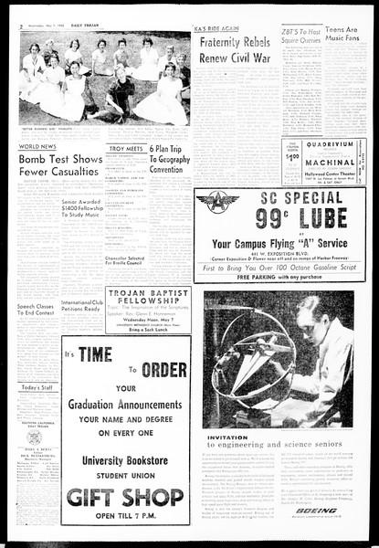 Daily Trojan, Vol. 49, No. 114, May 07, 1958