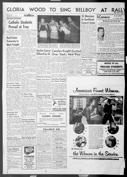 Daily Trojan, Vol. 45, No. 10, October 02, 1953