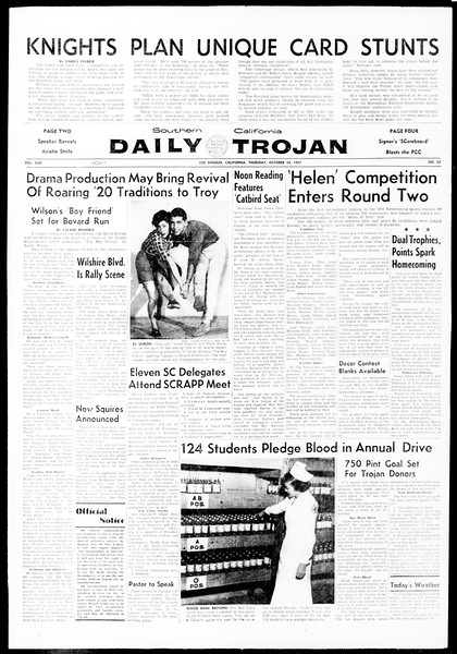 Daily Trojan, Vol. 49, No. 23, October 24, 1957