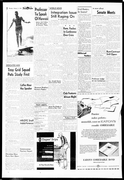 Daily Trojan, Vol. 49, No. 8, October 03, 1957