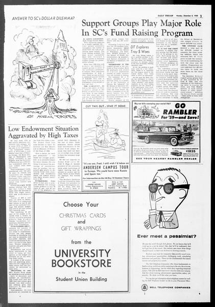 Daily Trojan, Vol. 50, No. 52, December 08, 1958