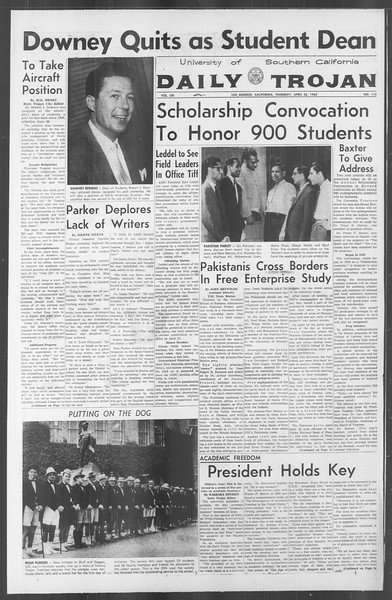 Daily Trojan, Vol. 53, No. 113, April 26, 1962