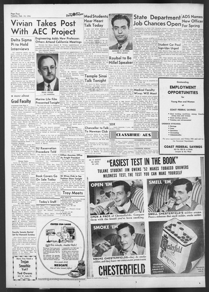 Daily Trojan, Vol. 42, No. 70, February 13, 1951