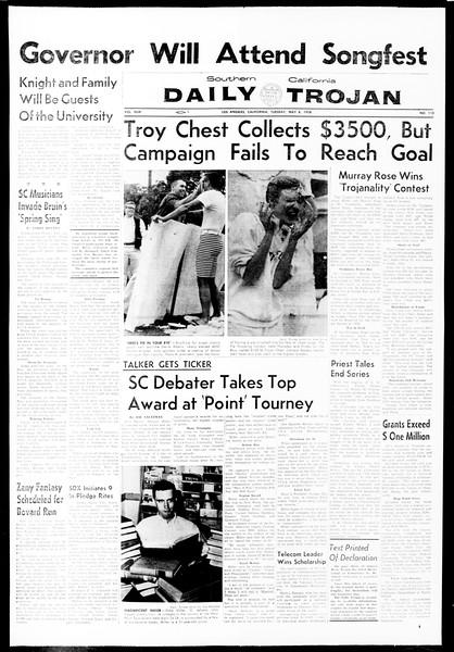 Daily Trojan, Vol. 49, No. 113, May 06, 1958