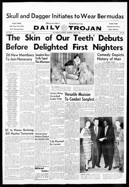 Daily Trojan, Vol. 48, No. 126, May 08, 1957
