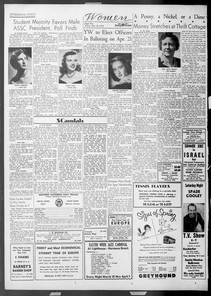 Daily Trojan, Vol. 44, No. 104, March 27, 1953