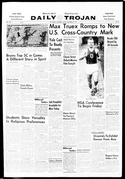 Daily Trojan, Vol. 49, No. 46, November 26, 1957