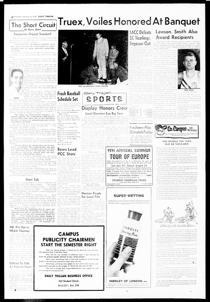 Daily Trojan, Vol. 49, No. 69, February 19, 1958