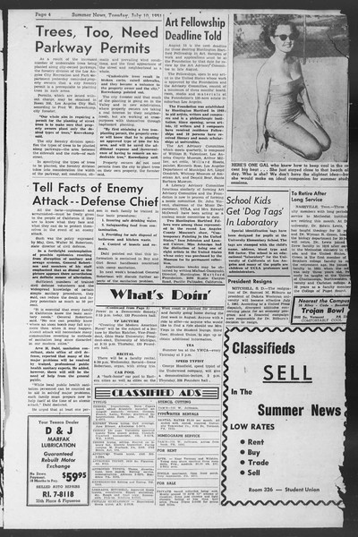 Summer News, Vol. 6, No. 5, July 10, 1951