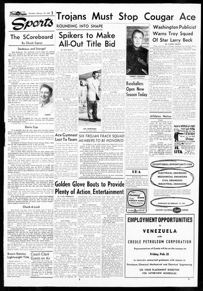 Daily Trojan, Vol. 48, No. 73, February 14, 1957
