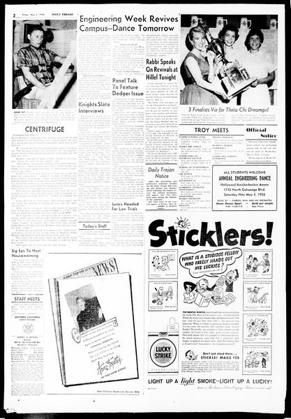 Daily Trojan, Vol. 49, No. 112, May 02, 1958