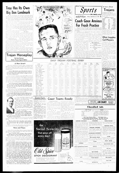 Daily Trojan, Vol. 49, No. 4, September 27, 1957