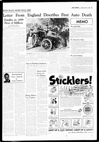 Daily Trojan, Vol. 49, No. 58, January 07, 1958