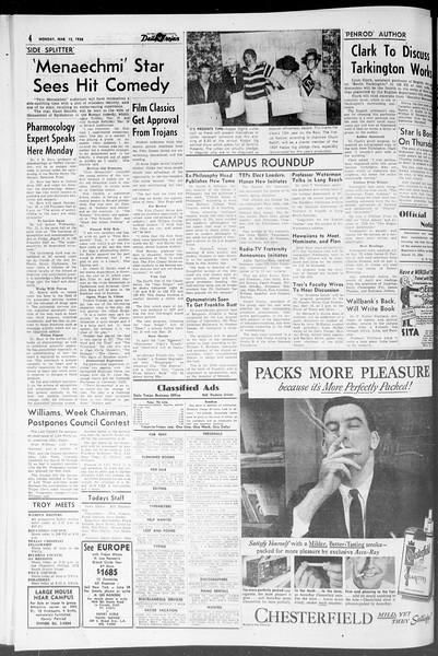 Daily Trojan, Vol. 47, No. 93, March 12, 1956