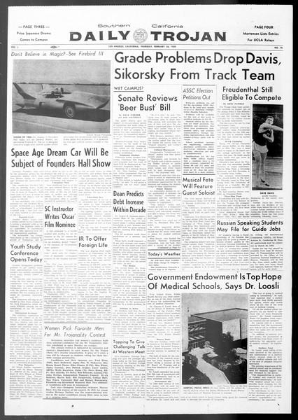 Daily Trojan, Vol. 50, No. 78, February 26, 1959