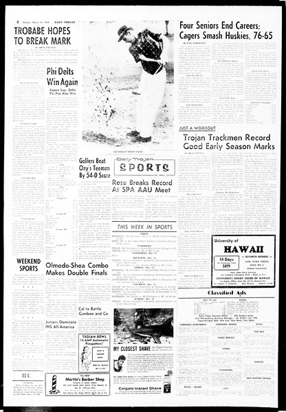 Daily Trojan, Vol. 49, No. 82, March 10, 1958