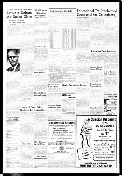 Daily Trojan, Vol. 49, No. 60, January 09, 1958