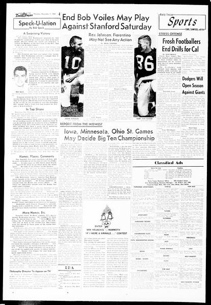Daily Trojan, Vol. 49, No. 33, November 07, 1957