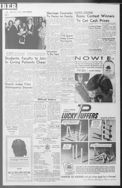 Daily Trojan, Vol. 53, No. 57, December 12, 1961