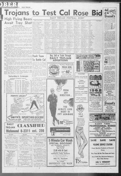 Daily Trojan, Vol. 53, No. 25, October 20, 1961