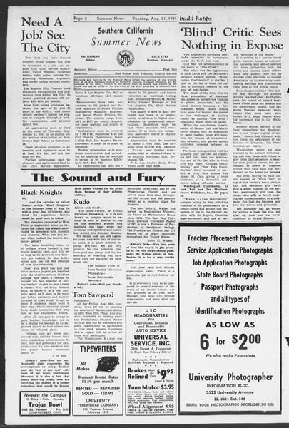 Summer News, Vol. 6, No. 17, August 21, 1951