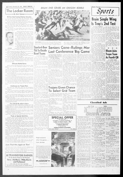 Daily Trojan, Vol. 50, No. 44, November 20, 1958