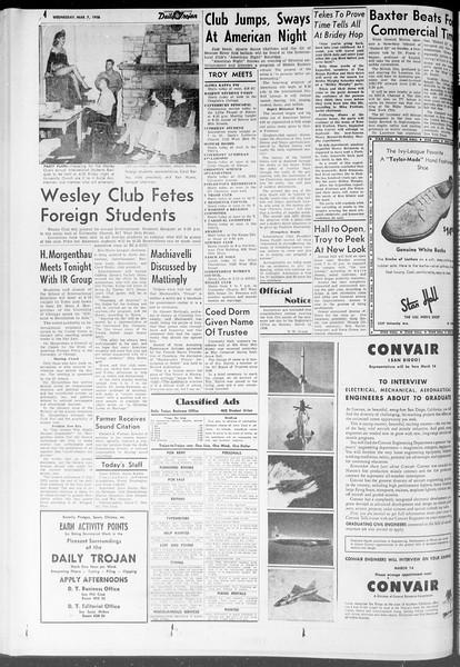 Daily Trojan, Vol. 47, No. 90, March 07, 1956
