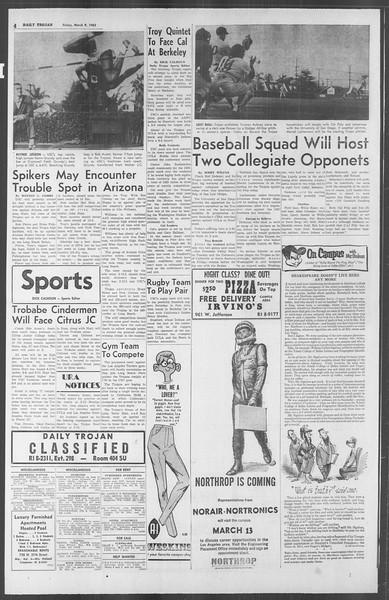 Daily Trojan, Vol. 53, No. 86, March 09, 1962