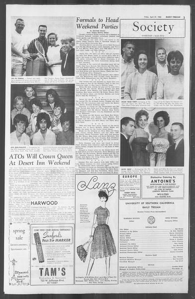 Daily Trojan, Vol. 53, No. 114, April 27, 1962