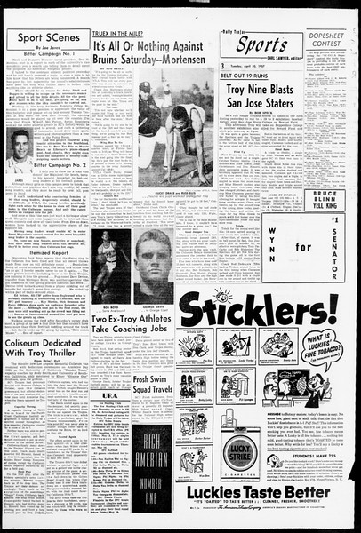 Daily Trojan, Vol. 48, No. 120, April 30, 1957