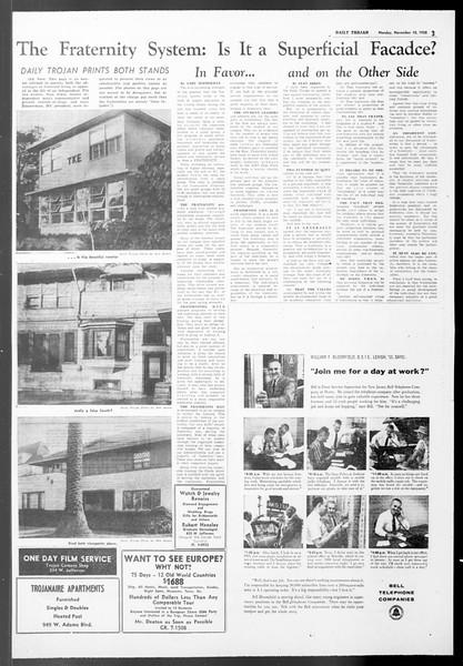 Daily Trojan, Vol. 50, No. 36, November 10, 1958