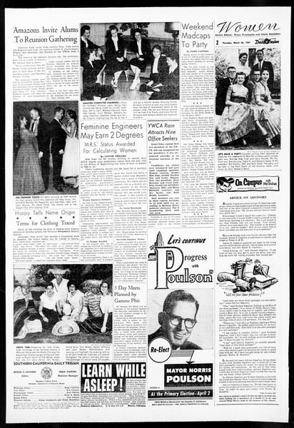 Daily Trojan, Vol. 48, No. 103, March 28, 1957