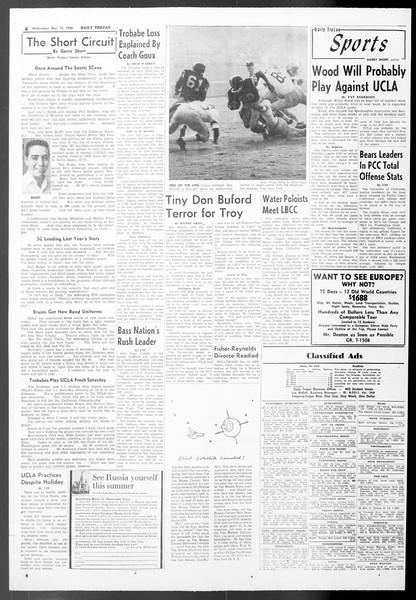 Daily Trojan, Vol. 50, No. 38, November 12, 1958