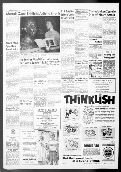Daily Trojan, Vol. 50, No. 82, March 04, 1959
