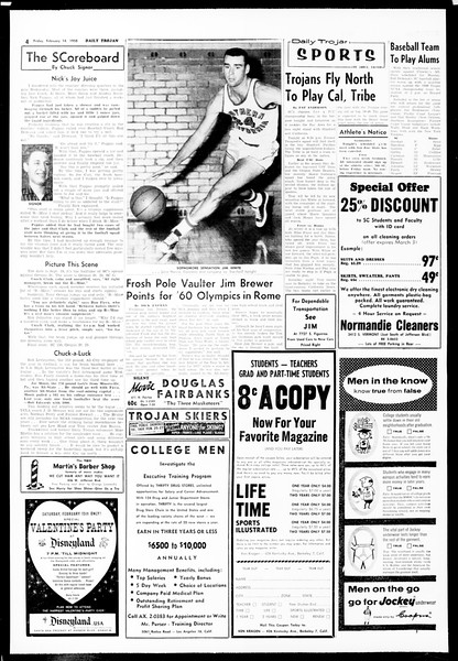 Daily Trojan, Vol. 49, No. 66, February 14, 1958