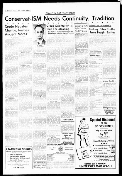 Daily Trojan, Vol. 49, No. 59, January 08, 1958