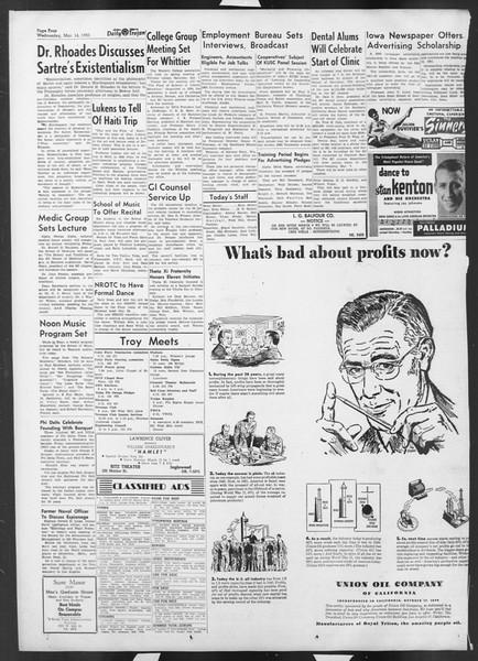 Daily Trojan, Vol. 42, No. 91, March 14, 1951