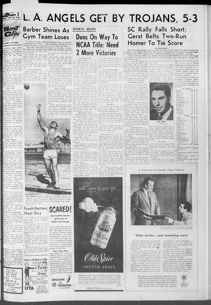Daily Trojan, Vol. 47, No. 99, March 20, 1956