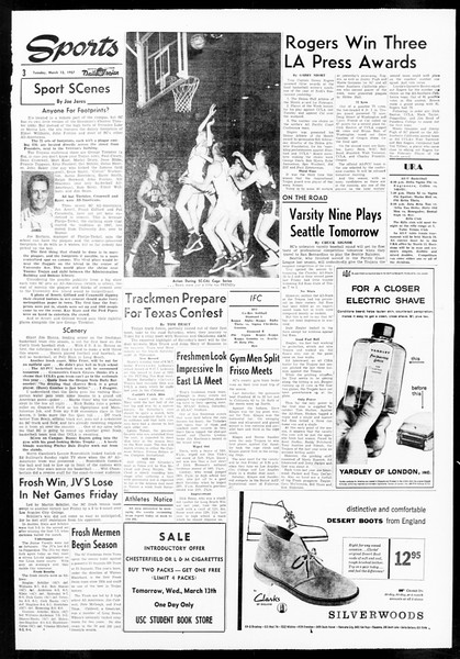 Daily Trojan, Vol. 48, No. 91, March 12, 1957