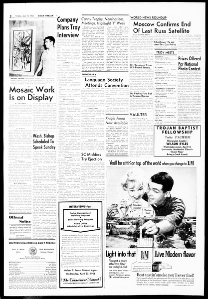 Daily Trojan, Vol. 49, No. 101, April 15, 1958