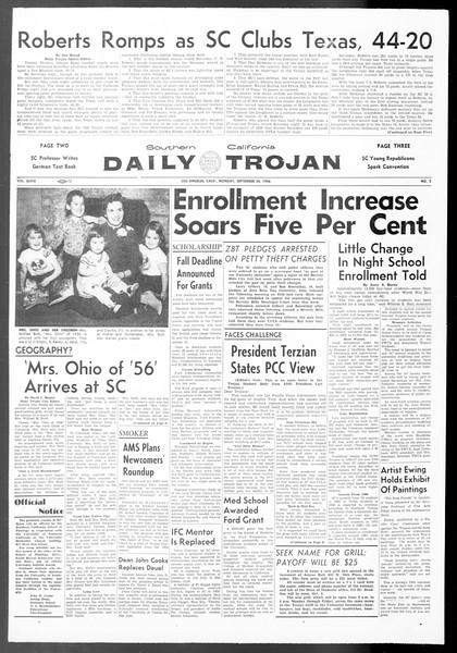 Daily Trojan, Vol. 48, No. 2, September 24, 1956