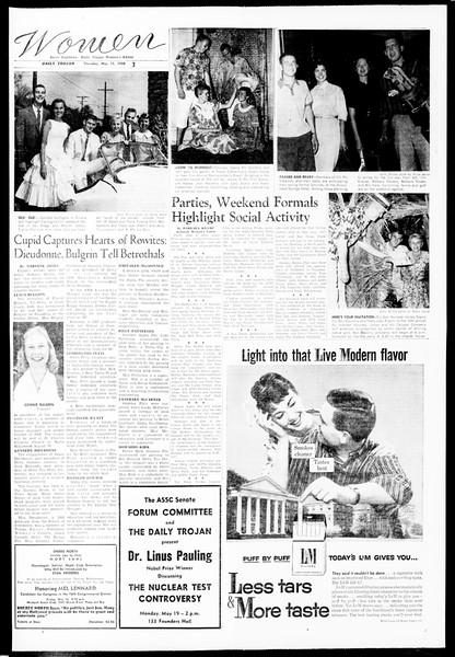 Daily Trojan, Vol. 49, No. 119, May 15, 1958