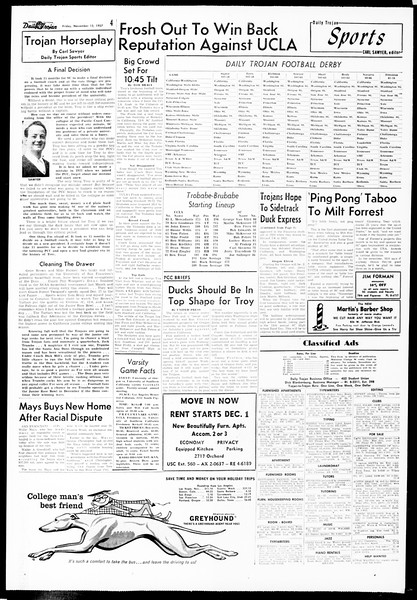Daily Trojan, Vol. 49, No. 39, November 15, 1957