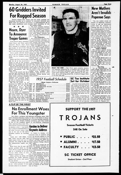Summer Trojan, Vol. 12, No. 14, August 26, 1957