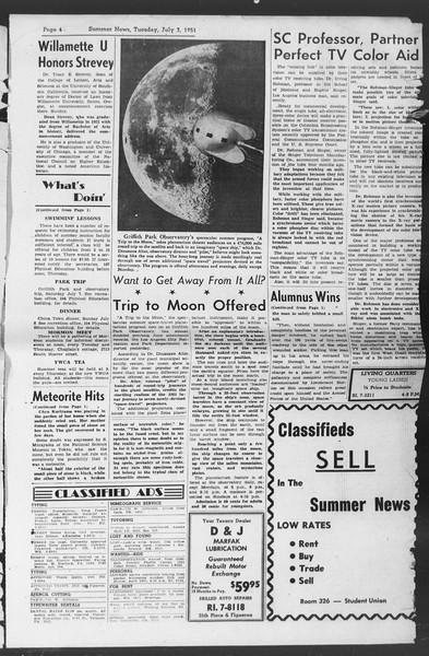 Summer News, Vol. 6, No. 3, July 03, 1951