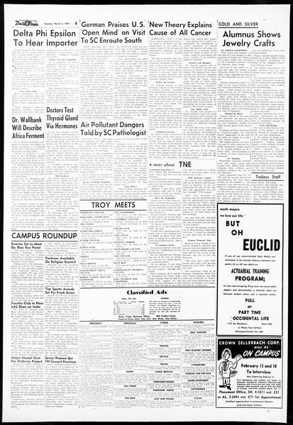 Daily Trojan, Vol. 48, No. 86, March 05, 1957